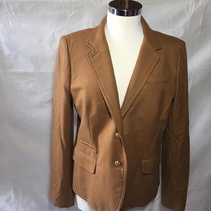 JCREW tan school boy blazer size 12